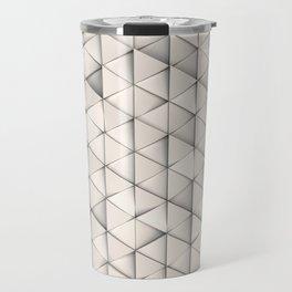 Pattern of white triangle prisms Travel Mug