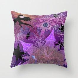 Snowflakes and Dragons Throw Pillow
