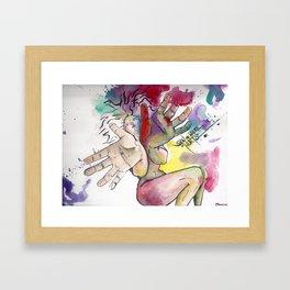 Show Me Where It Hurts Framed Art Print