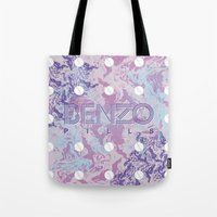 kenzo Tote Bags featuring Benzo Pills by chobopop