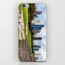 Downtown Houston Skyline from Police Officer's Memorial iPhone Skin