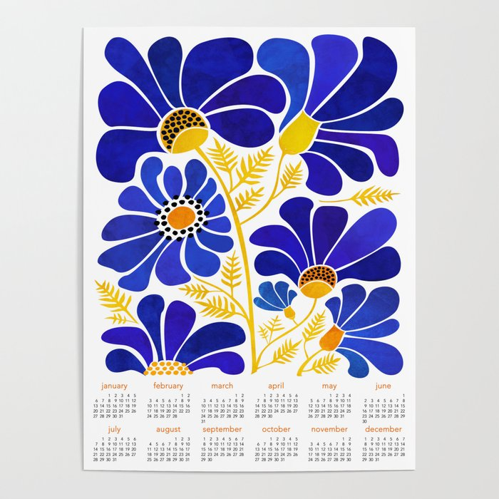 The Happiest Flowers 2019 Calendar Poster