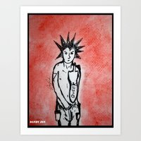 queer Art Prints featuring Queer Punx by Dandy Jon