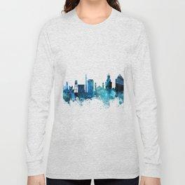 Durham North Carolina Skyline Long Sleeve T-shirt