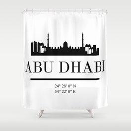 ABU DHABI UAE BLACK SILHOUETTE SKYLINE ART Shower Curtain