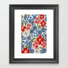 UPPERCASE feedsack floral Framed Art Print