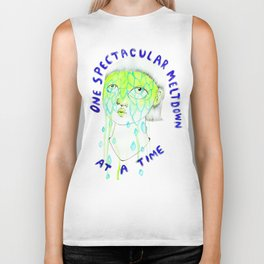 One spectacular meltdown at a time Biker Tank