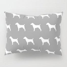 White Jack Russell Terrier Silhouette Pillow Sham