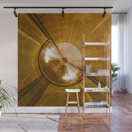 Geometric Art - Gold Wall Mural