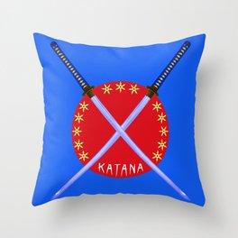 Katana Sword Design Throw Pillow