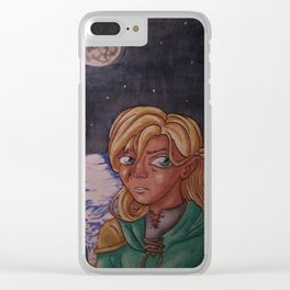 Moon Mage Clear iPhone Case