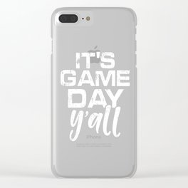 It's Game Day Yall Football Clear iPhone Case