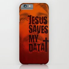 Jesus saves my data iPhone 6s Slim Case