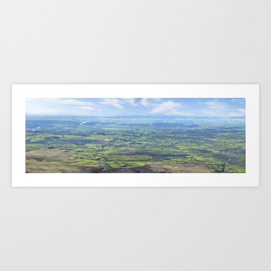 View from the Knockmealdown Mountains, Ireland Art Print