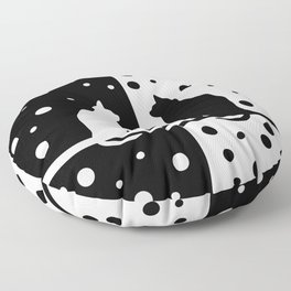 Black and White 82 Floor Pillow