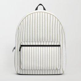 Gold ticking stripes Backpack