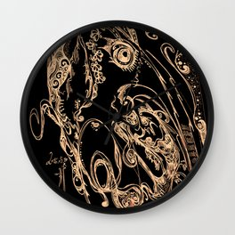 Impression--bird and water. Wall Clock