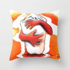 Fiery Embrace Throw Pillow