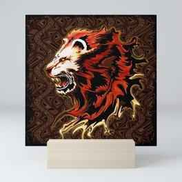 King Lion Roar Mini Art Print