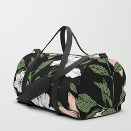 Flowers in the tropical night Duffle Bag