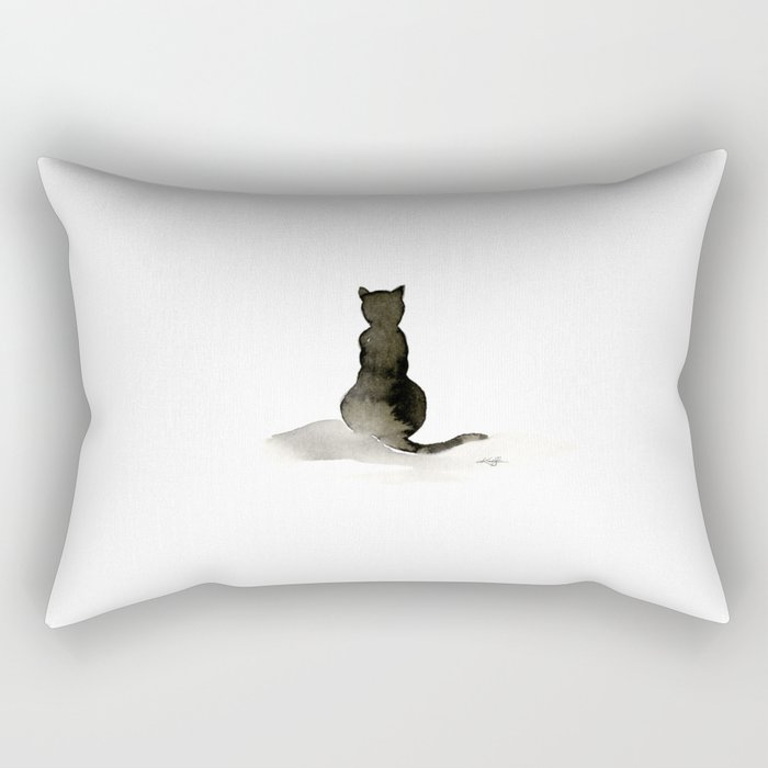 I Love Cats No. 2 by Kathy Morton Stanion Rectangular Pillow