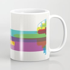 Shapes of Los Angeles accurate to scale Mug