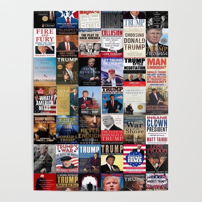 Donald Trump Books Poster