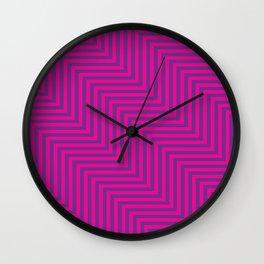 Pink & Purple ZigZag Wall Clock