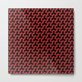 Impossible Red Triangles Metal Print