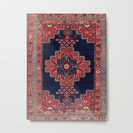 Afshar Kerman South Persian Rug Print Metal Print