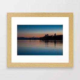 Sunset on Horseshoe Lake Framed Art Print