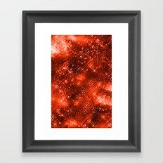 Dazzling Series (Orange) Framed Art Print