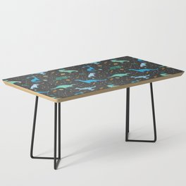Dinosaurs in Space in Blue Coffee Table