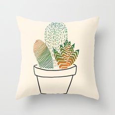 Succulent Study Throw Pillow