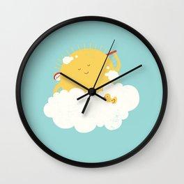 sun-bathing Wall Clock
