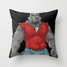 TEAM WOLF: Max A. Mullen. Throw Pillow