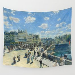 Pont Neuf Paris Painting by Auguste Renoir Wall Tapestry