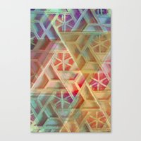 geo Canvas Prints featuring Geo by Ashley Keeley