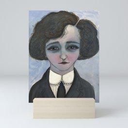 """""""La Vagabond Colette"""", Colette Literary Portrait Mini Art Print"""