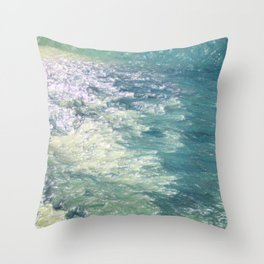 Sea Painting Maravellous Effect with brushes Throw Pillow