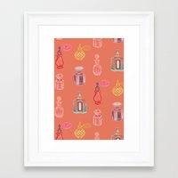 perfume Framed Art Prints featuring Perfume by Pim-Pimlada Studio