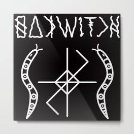 OAK WITCH BLACK SERPENT SIGIL Metal Print