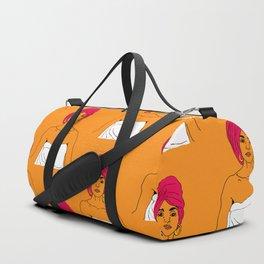Cherry Pie Pattern in Orange Duffle Bag