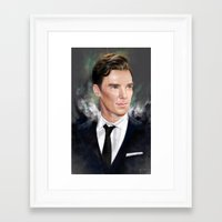benedict Framed Art Prints featuring Benedict by Raiecha
