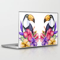 toucan Laptop & iPad Skins featuring Toucan by Julia Badeeva