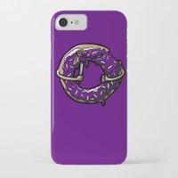 doughnut iPhone & iPod Cases featuring Hurtz Doughnut by Jonah Makes Artstuff