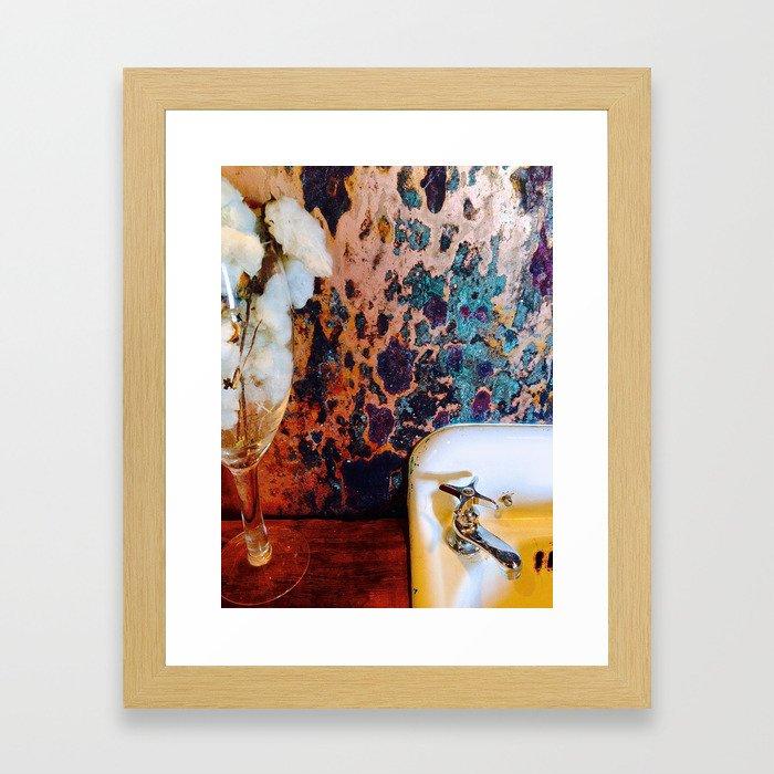 Chicken Shack Bathroom Framed Art Print