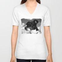best friend V-neck T-shirts featuring My best friend by Karl-Heinz Lüpke