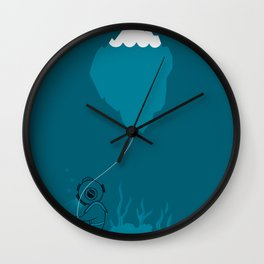 The Diver and his Balloon Wall Clock