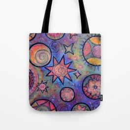 Celestial Stars - Sending Love and Healing Light  Tote Bag